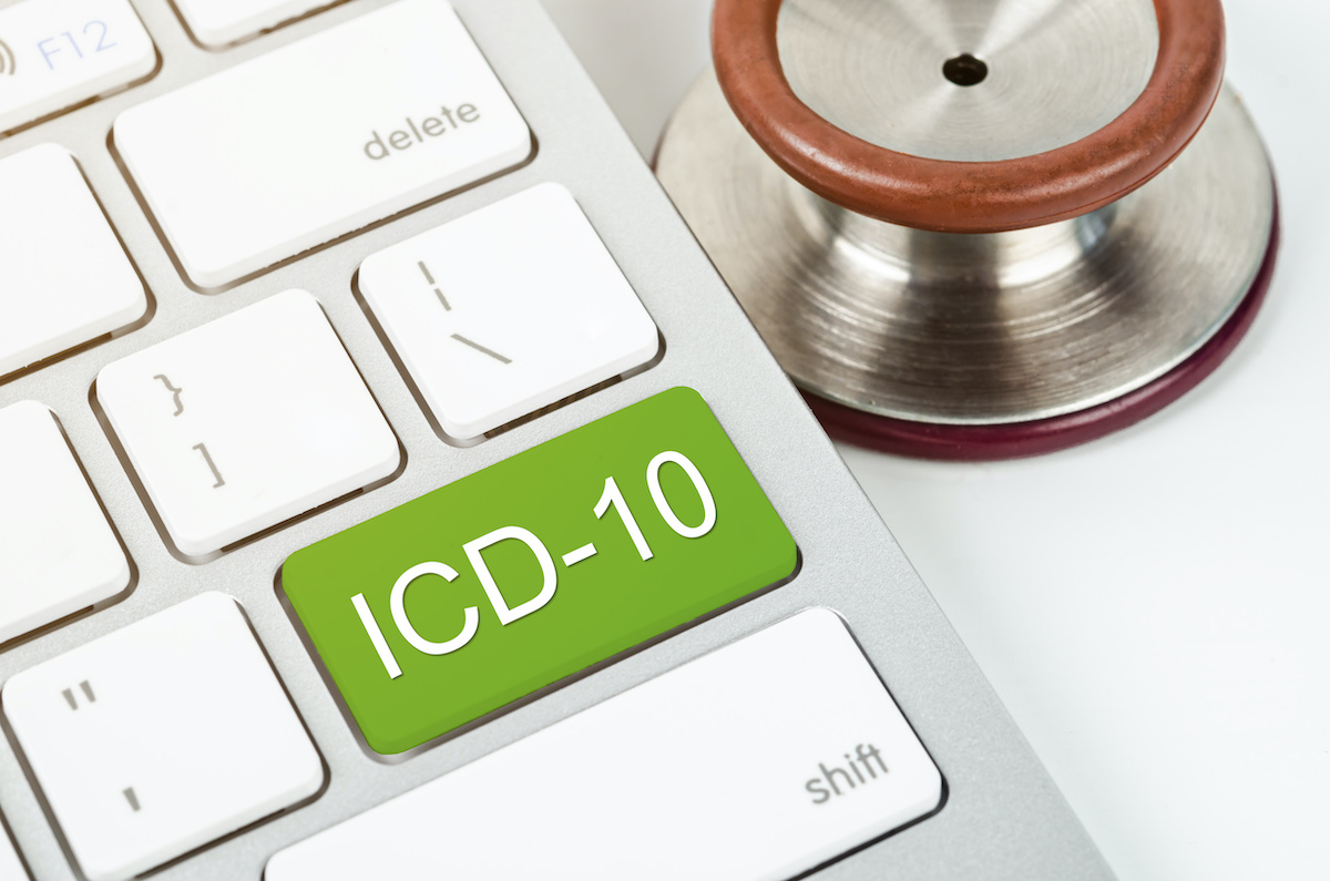International Classification of Diseases and Related Health Problem 10th Revision or ICD-10 and stethoscope medical on computer keyboard; blog: Unspecified Codes: Why You Shouldn't Use Them